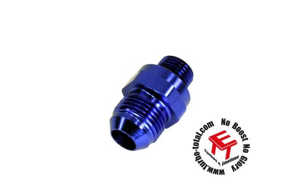 AEM -6AN auf -8AN Ausgangsanschluss mit Rückschlagventil für Inline Hi Flow Kraftstoffpumpe 50-200-