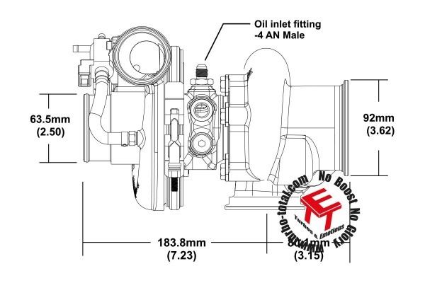 EFR 7163-F Turbolader B1 Frame 11639880006