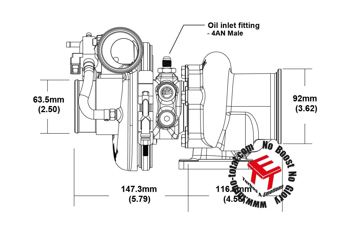 EFR 6758 Turbolader T25-064 ar 179388