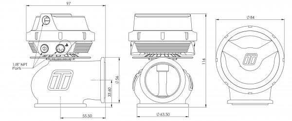 Turbosmart WG45 Gen-V Hypergate 45 1 bar Sleeper