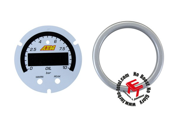 AEM X-Series 10 Bar Öldruckanzeige Zubehör Kit 30-0307-ACC