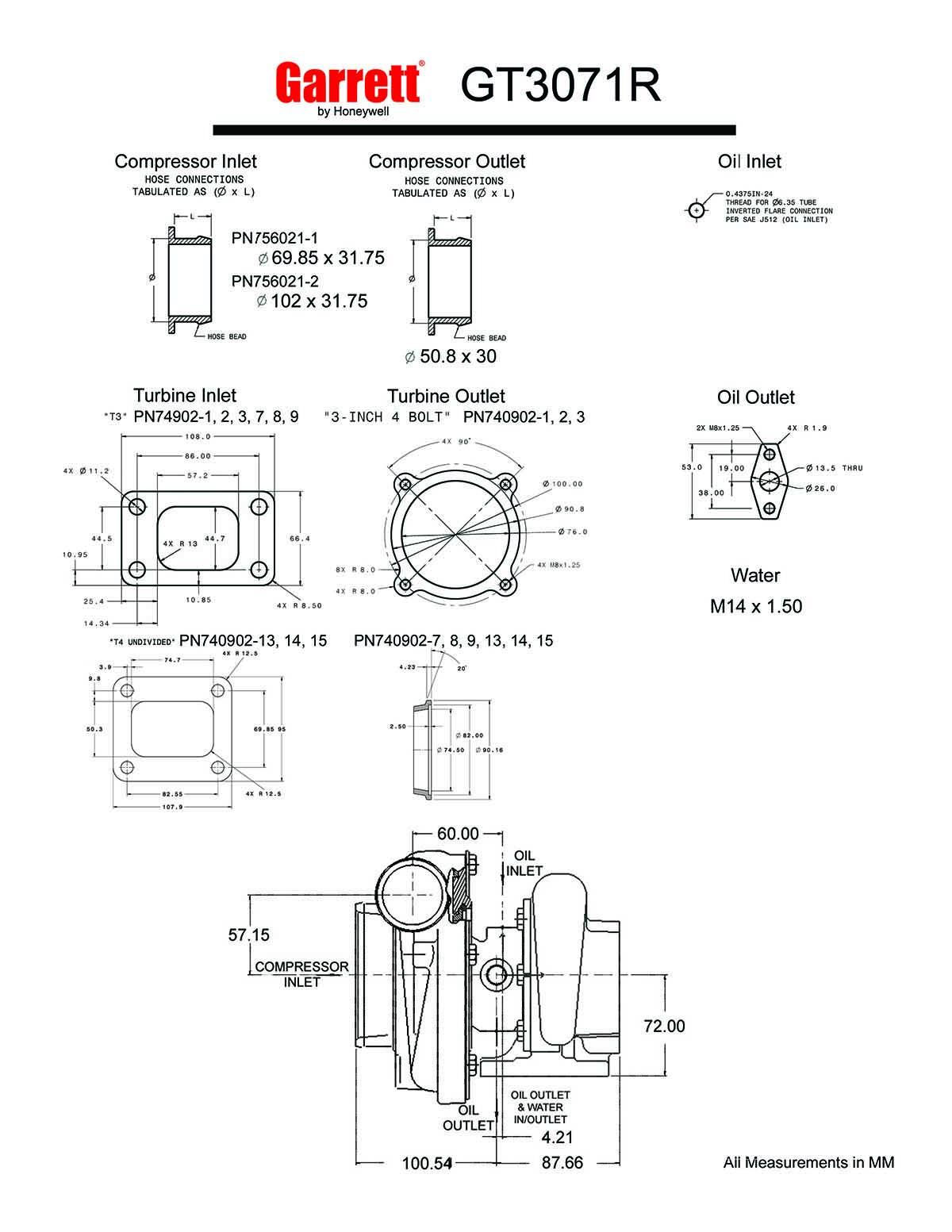 Garrett_GT3071R_Zeichnung