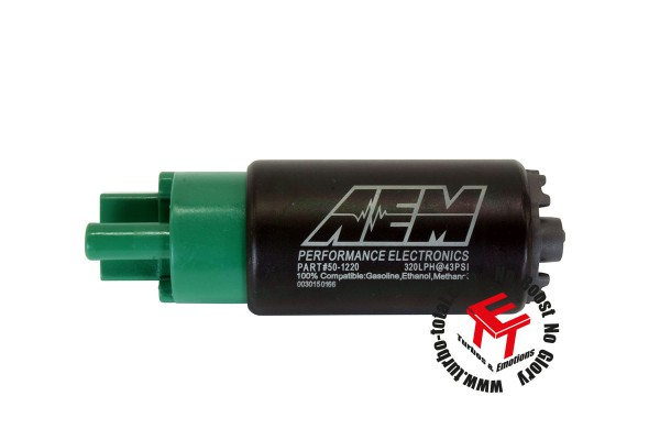 AEM 320lph E85 High Flow Kraftstoffpumpe mit Versetztem Einlass 50-1220