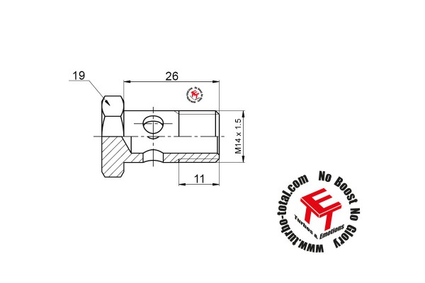 Hohlschraube M14 x 1.5 für Wasseranschluss