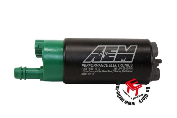 AEM 310lph E85 High Flow Kraftstoffpumpe Versetzter Einlass 50-1210