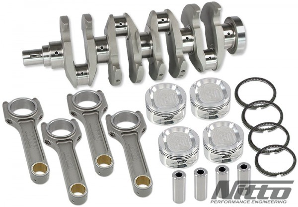 Nitto Stroker Kit Mitsubishi 4B11 2.2L 86.5mm Bohrung I-Shaft Pleuel