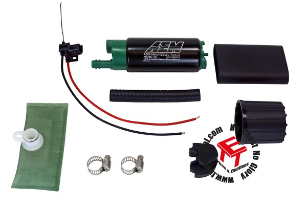 AEM 320lph E85 High Flow Benzinpumpe Versetzter Einlass 50-1200