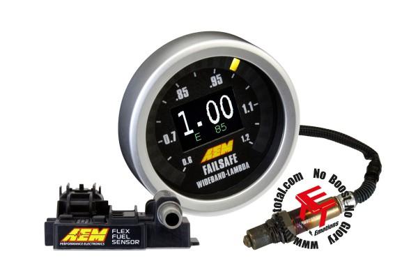 AEM Flex Fuel Breitband Failsafe Instrument mit F/F Sensor 30-4911
