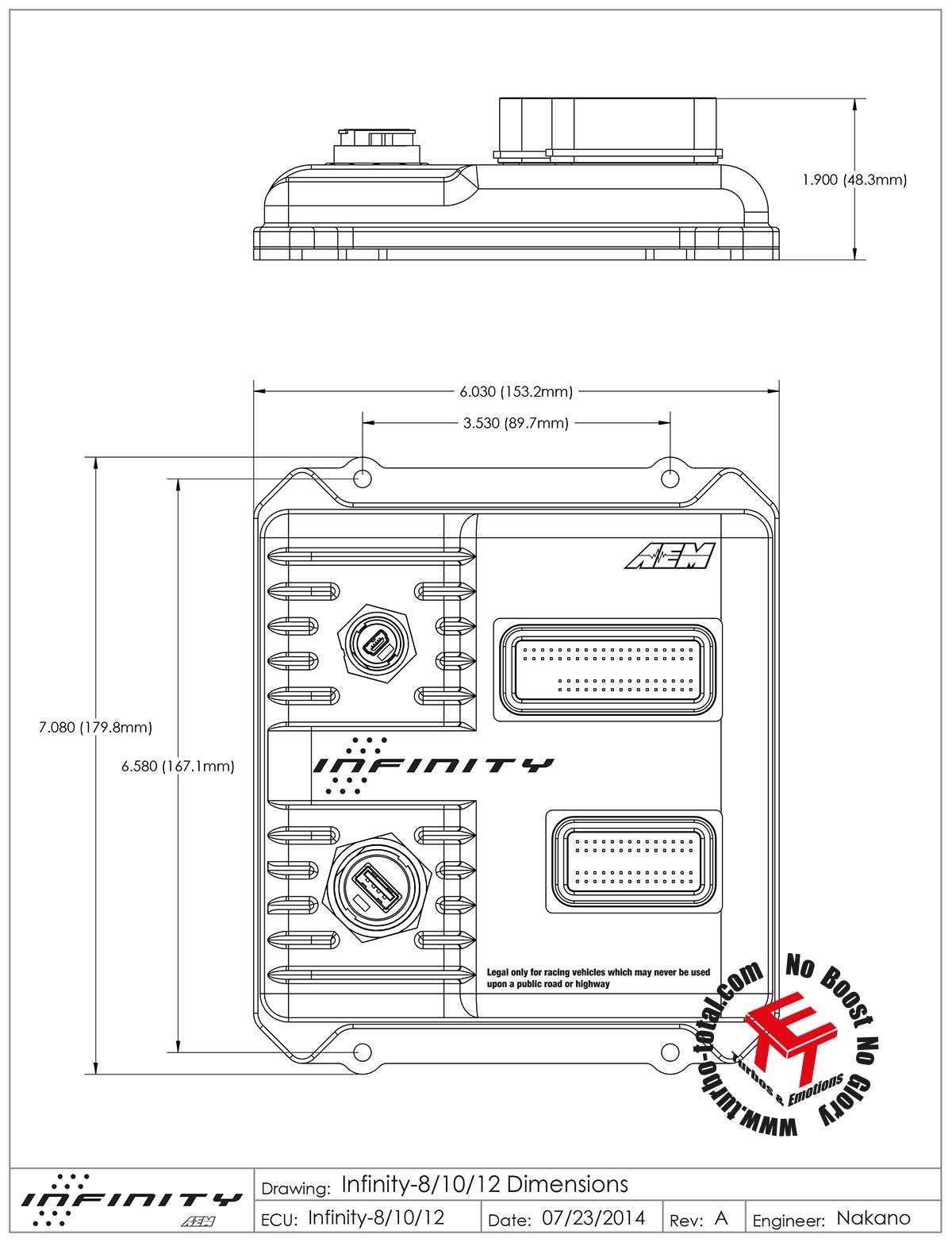 AEM Infinity 712 - Frei Programmierbares Steuergerät 30-7111 ... on
