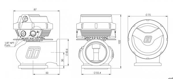 Turbosmart WG40 Gen-V Compgate 40 1 bar Sleeper