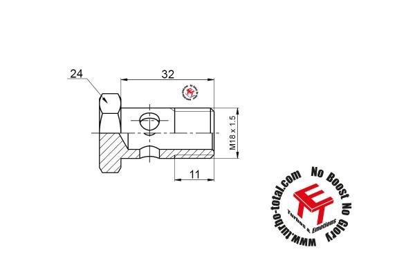 Hohlschraube M18 x 1.5 für Wasseranschluss